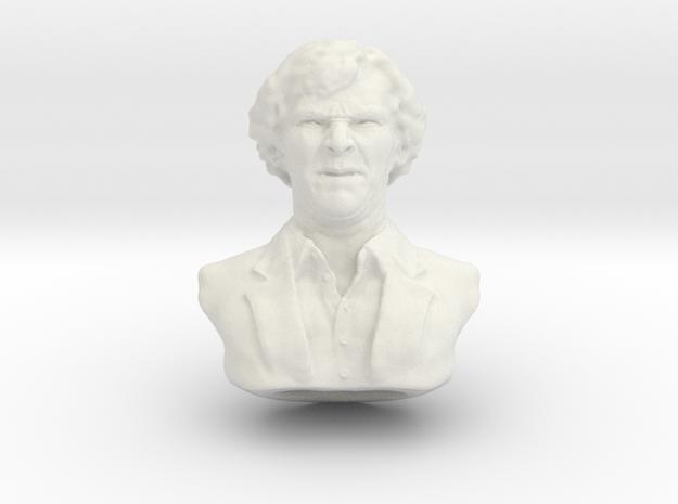 Lonely Detective 7cm in White Natural Versatile Plastic