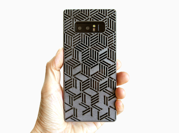 Samsung Galaxy Note 8 case_Rhombus in Gray Professional Plastic