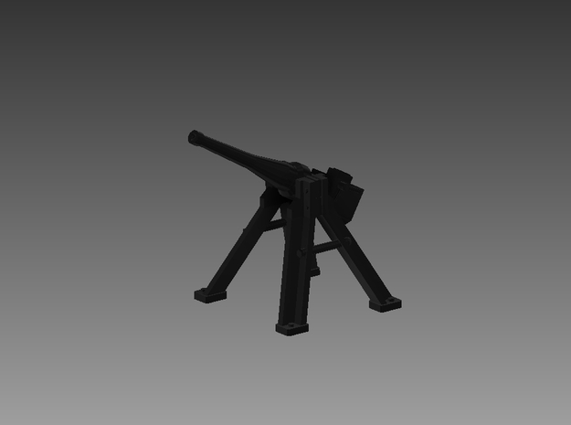 3 Pounder Saluting Gun 30° 1/72 in Smooth Fine Detail Plastic