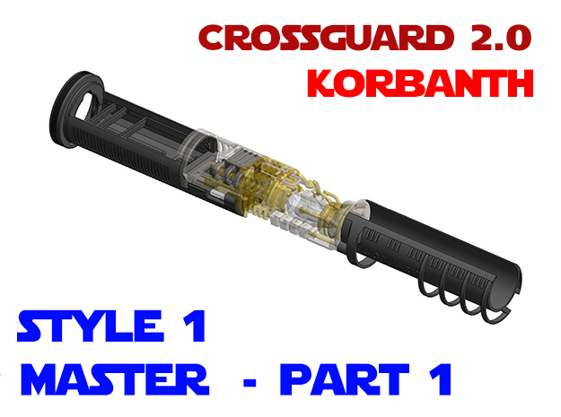 Korbanth Crossguard 2.0 - Master Part1 Style1 in White Natural Versatile Plastic