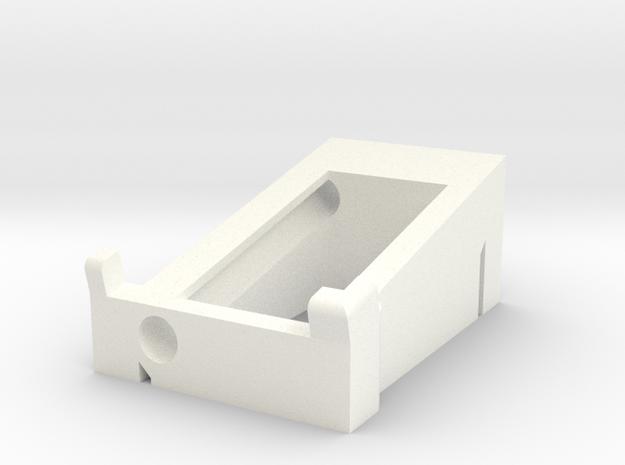 Preston Single Channel Cradle in White Processed Versatile Plastic