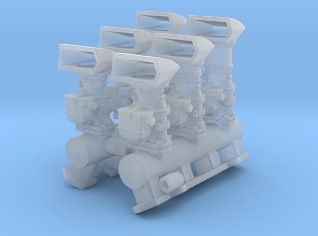 6x2 Intake (fits Revell Hemi) w/CalCustom scoops