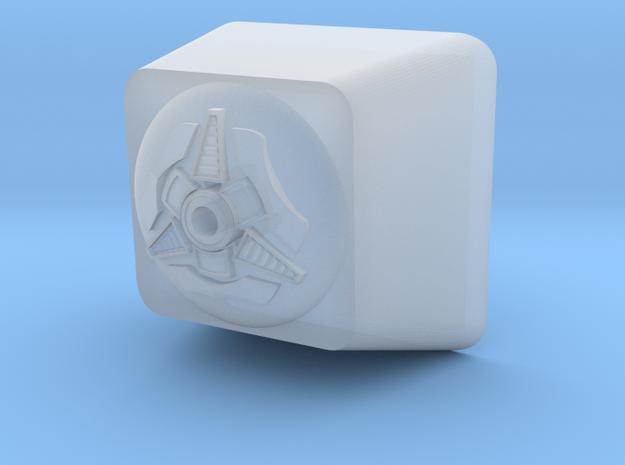 Cyber Cherry MX Keycap Surround in Smooth Fine Detail Plastic