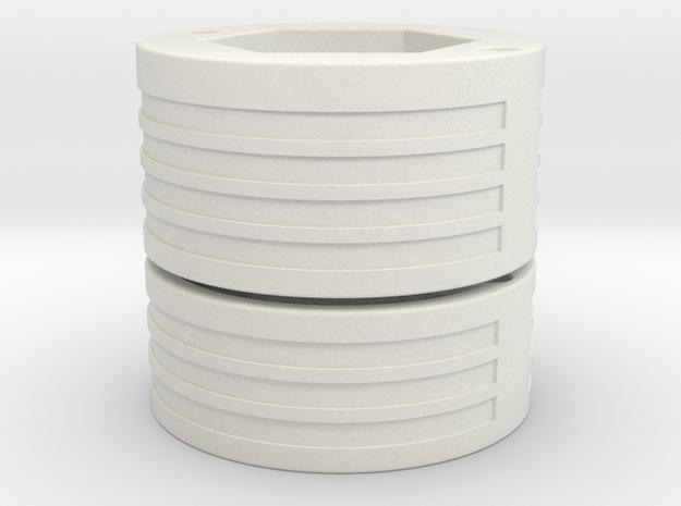 Custom request - 1.24OD GX-16 Holder in White Natural Versatile Plastic