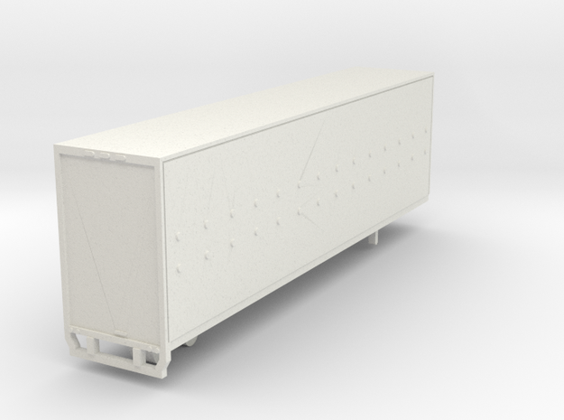 53 Feet Trailer in Nscale in White Natural Versatile Plastic