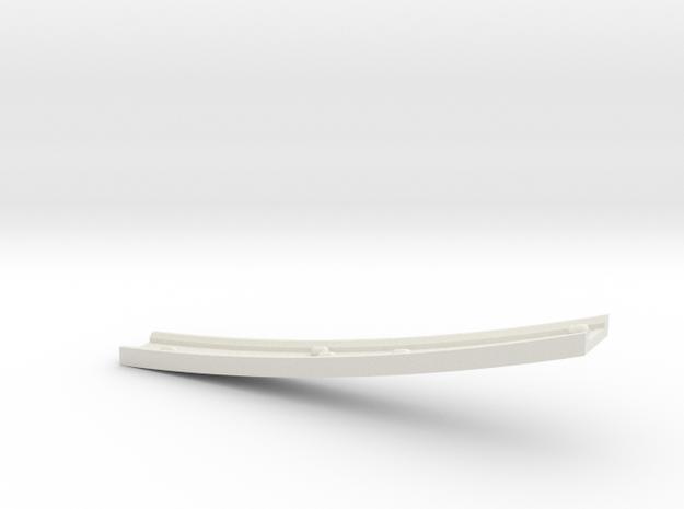 Motorway 4 Bridge (B) with cars 1:1000 scale in White Natural Versatile Plastic
