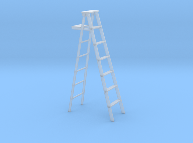 1 to 24 scale bulked up step ladder in Smoothest Fine Detail Plastic