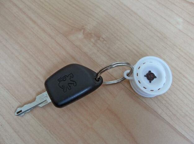 106 Rallye Wheel Keychain 3d printed
