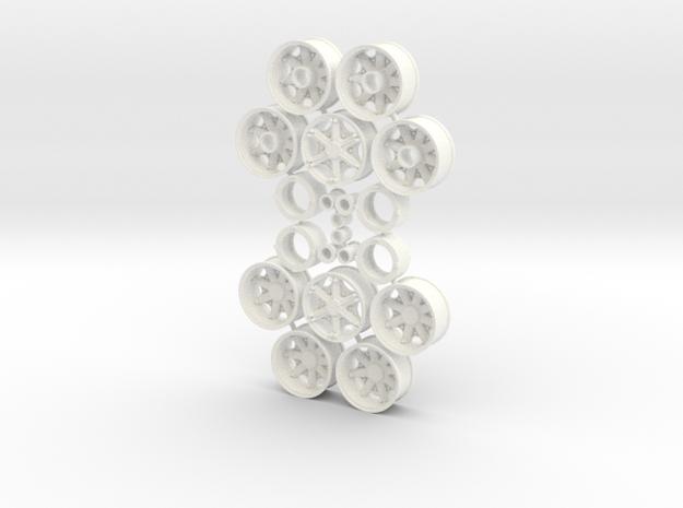 Mack Heavy Spider Wheels in White Processed Versatile Plastic