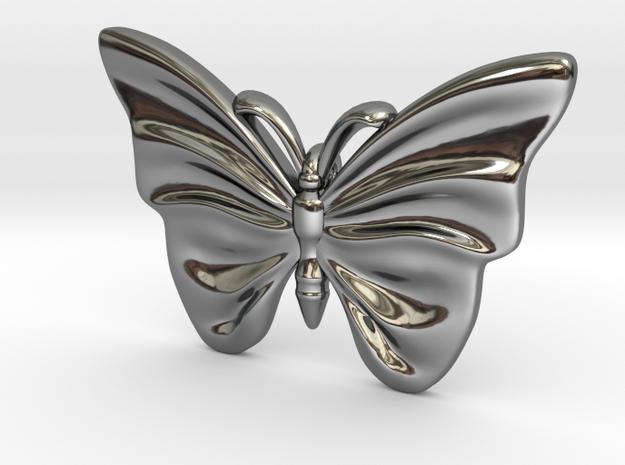 Monarch Butterfly in Fine Detail Polished Silver