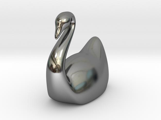 Swan in Fine Detail Polished Silver