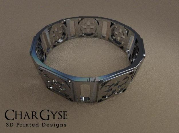 Bangle - Four Fountains 3d printed Rendered in Blender