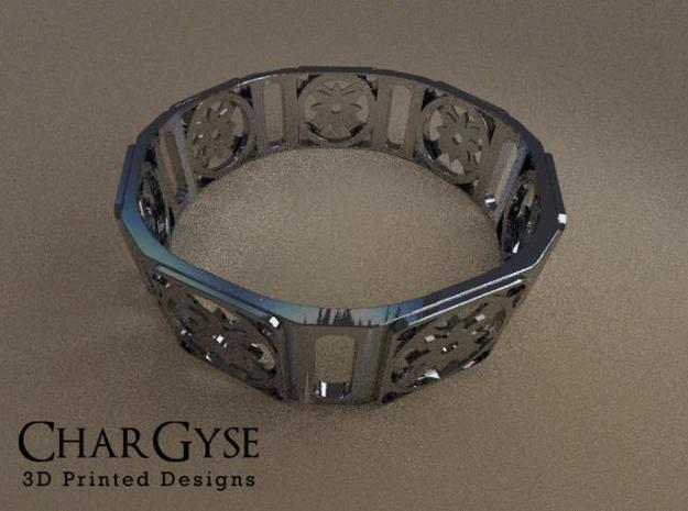Bangle - Eight Petal Supported in Smooth Fine Detail Plastic