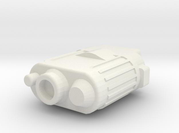 Stormy Basic Binoculars in White Natural Versatile Plastic