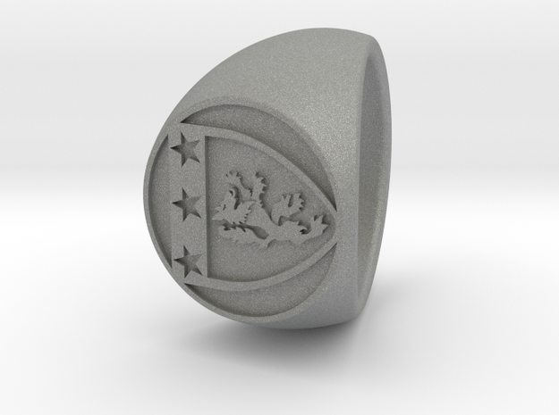 Custom Signet ring 86 in Gray PA12