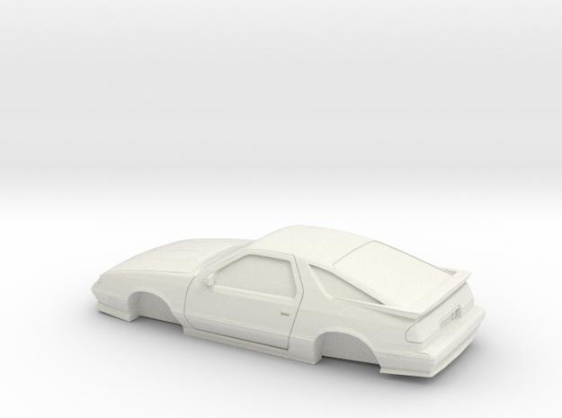 1/25 1992-93 Dodge Daytona IROC Shell in White Natural Versatile Plastic