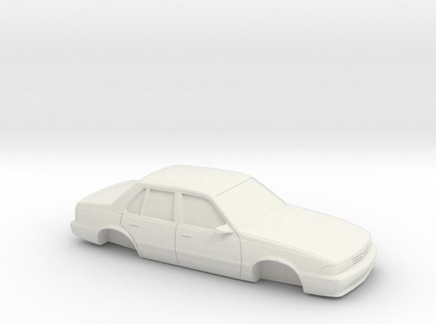 1/25 1988-93 Chevrolet Cavalier Sedan Shell in White Natural Versatile Plastic