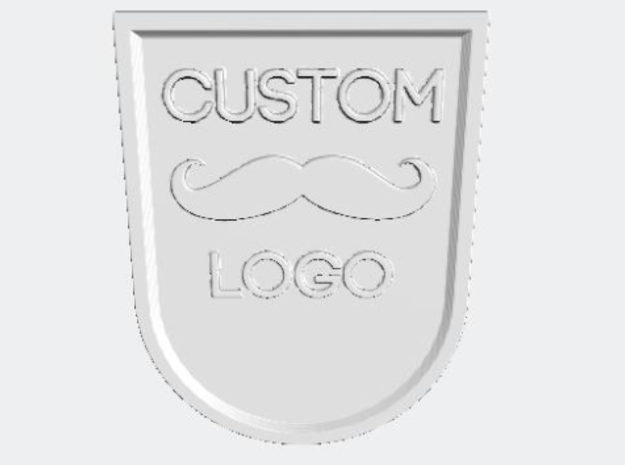 CUSTOM DIY BADGE in White Natural Versatile Plastic