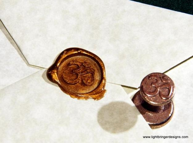 Om Wax Seal in Polished Bronzed Silver Steel