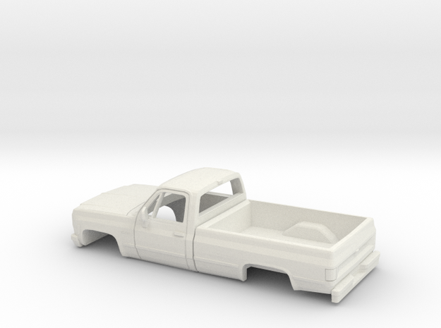 1/32 1979 Chevy CK Series Reg Cab Shell in White Natural Versatile Plastic