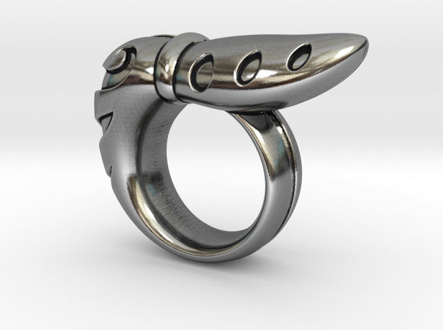 Chrysalis Ring 2 - Size 9 (18.95 mm) in Antique Silver