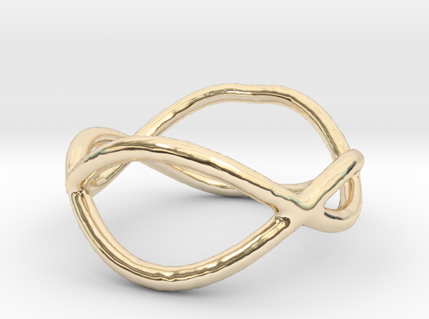 Ring 10 in 14k Gold Plated Brass