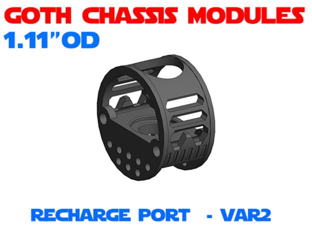 GCM111 - Recharge Port Chassis Var2 in White Natural Versatile Plastic