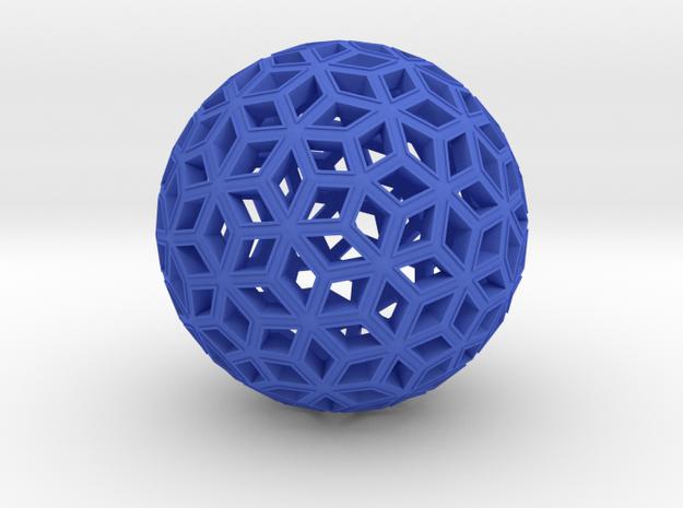Deltoid Reticulation in Blue Processed Versatile Plastic