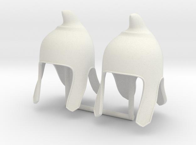 PHRYGIAN HAT x2  in White Natural Versatile Plastic