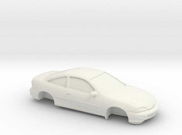 1/25 1998 Chevrolet Cavalier Coupe in White Natural Versatile Plastic