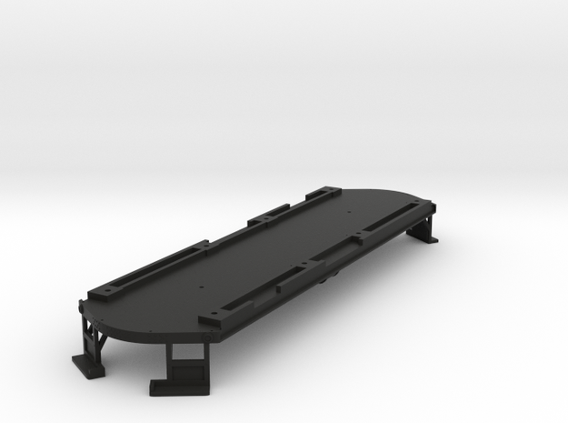 Low Res O Scale Illinois Terminal Class B Floor  in Black Natural Versatile Plastic