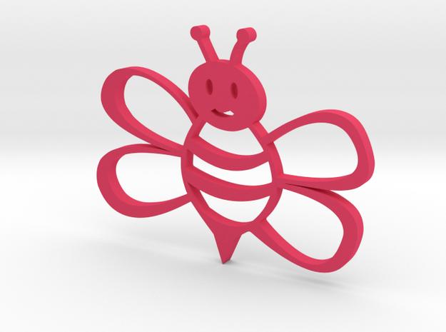 Honeybee pendent in Pink Processed Versatile Plastic