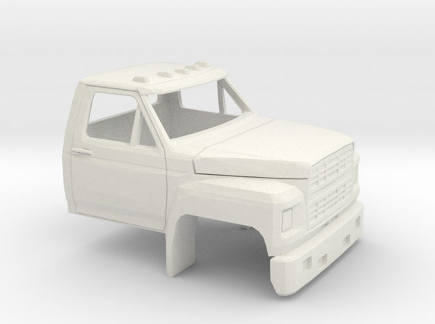 1/32 1980-86 Ford F 600 Cab in White Natural Versatile Plastic
