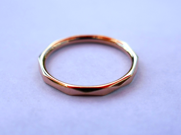 Geometric Ring in 14k Rose Gold Plated Brass: 6.5 / 52.75