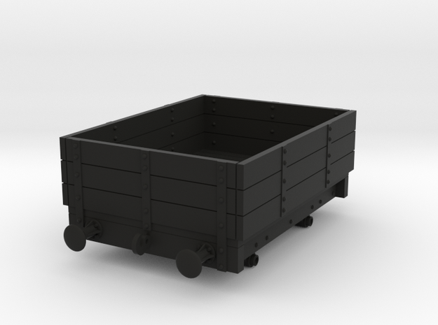 OO NWR Small Wagon in Black Natural Versatile Plastic