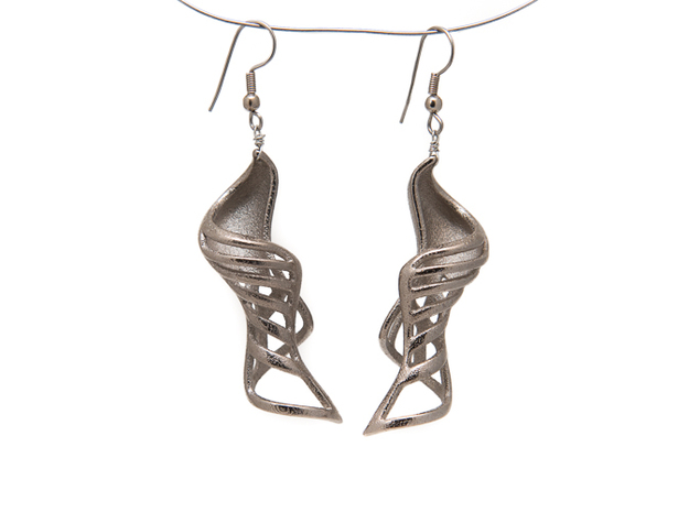 Work Curve Earrings. in Stainless Steel