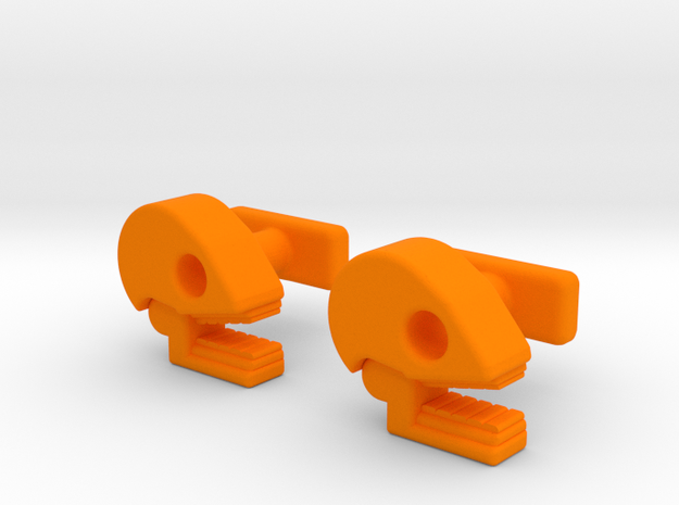 Mictlan cufflinks in Orange Processed Versatile Plastic