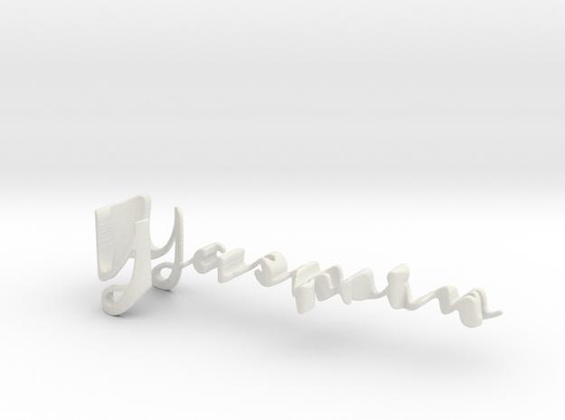 3dWordFlip: Yasmin/Cristine in White Natural Versatile Plastic