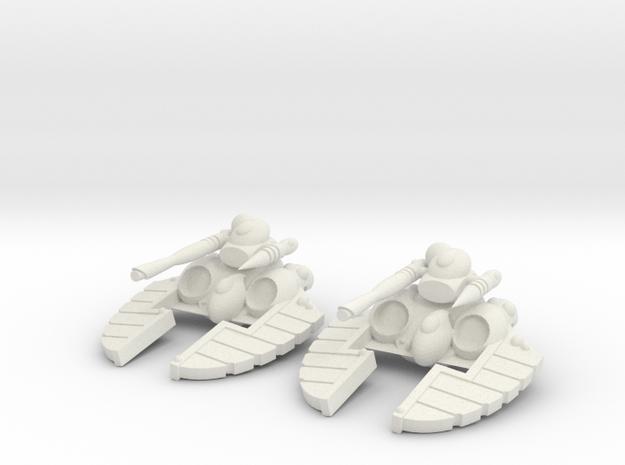 Space Elf - Laser Blaster Turret in White Premium Versatile Plastic