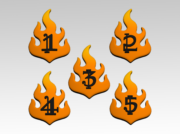 Flame 1-5 Icons x50