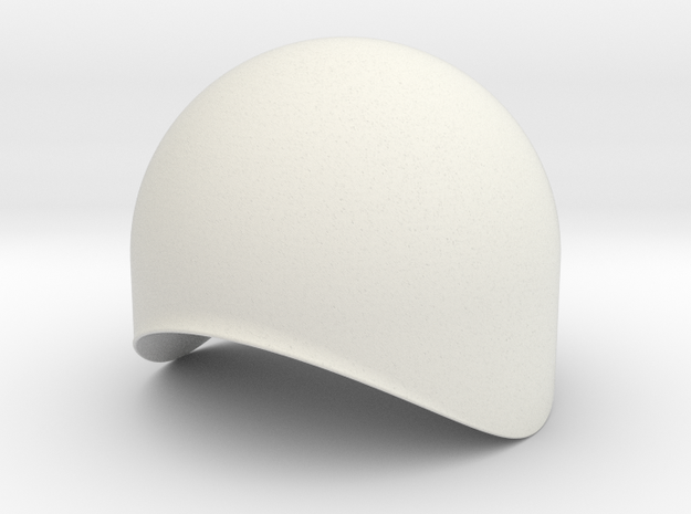 Dome 40mm in White Natural Versatile Plastic