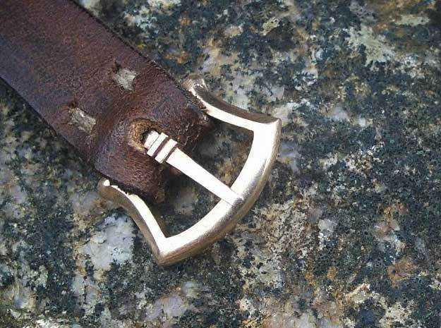 "1/2"" small buckle with tongue in Natural Bronze"