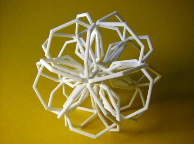 Thirty Heptagons in White Natural Versatile Plastic