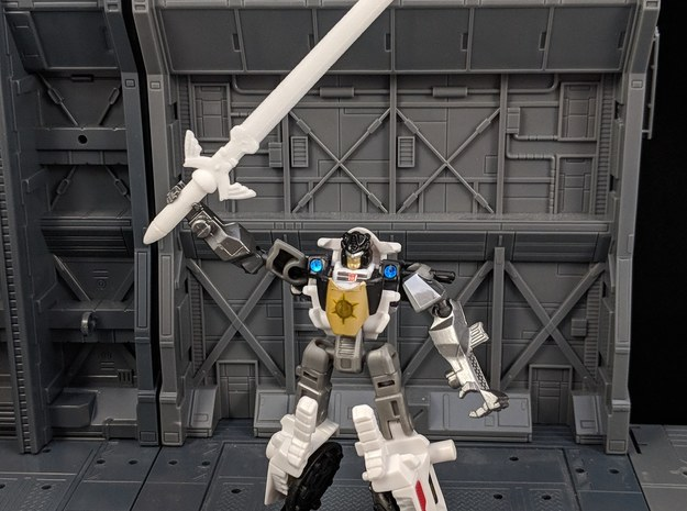 Master Sword for Legends Class Transformers in White Natural Versatile Plastic