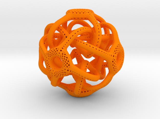 Cubic Octahedral Symmetry Perforation Type 1 in Orange Processed Versatile Plastic