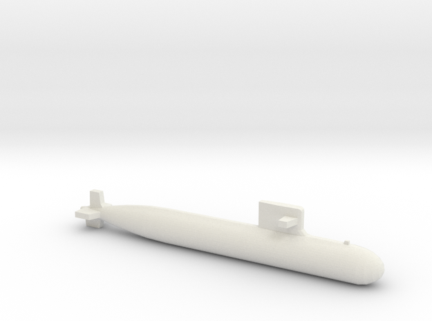 PLA[N] 093A Submarine, Full Hull, 1/2400 in White Natural Versatile Plastic