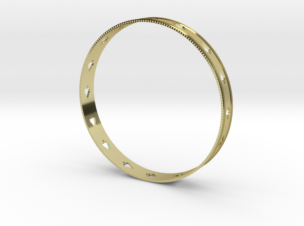 Queen of Spade's Bracelet in 18k Gold Plated Brass