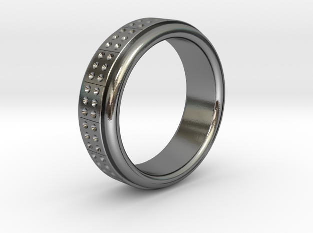 Men's Band Ring #2 in Polished Silver