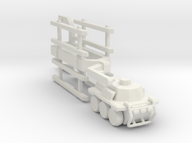 A-CMa1 Truck and Trailer 285 scale in White Natural Versatile Plastic