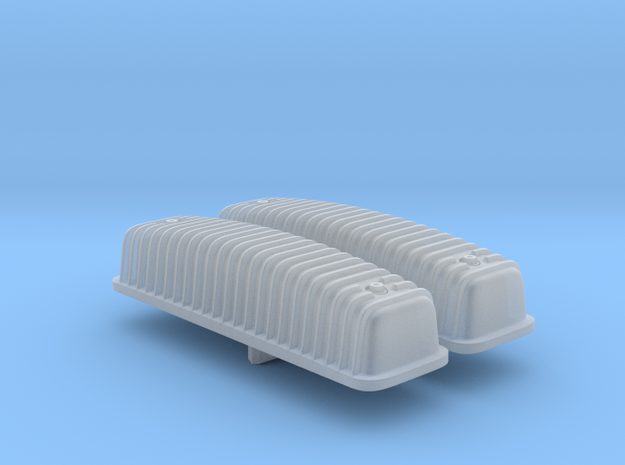 1/25 Ford Y-block Valve Covers, Ribbed